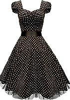Rockabilly kleid Vintage petticoat kleid cocktailkleid abendkleid Gr.32 34 36 38 40 42