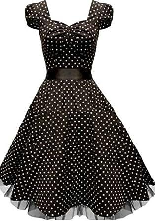 Rockabilly petticoat kleid cocktailkleid abendkleid Gr.34 36 38 S / M / L