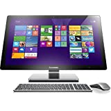 Lenovo A740 68,58 cm (27 Zoll) QHD LED All-in-One Desktop-PC (Intel Core i7-4558U, 3,3GHz, 8GB RAM, Hybrid 1TB HDD + 8GB SSHD, NVIDIA GeForce GTX 850A/2GB, Touchscreen, Win 8.1) silber