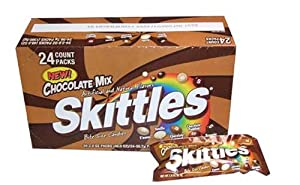 Skittles Chocolate Mix Singles - 2 Oz / Pack, 24 Packs