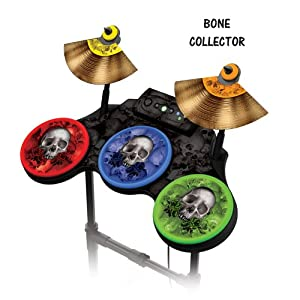 protective skins for guitar hero 4 world tour drum set fits xbox 360 ps3 ps2. Black Bedroom Furniture Sets. Home Design Ideas