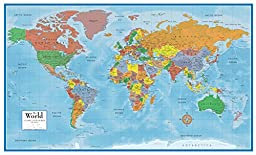 24x36 World Classic Premier 3D Wall Map Poster Paper Folded