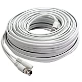 First Alert BNC-300 RG59 300-Feet Coax Video and DC Power Cable (White)