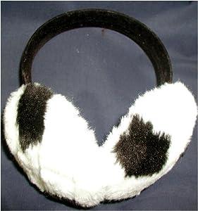 Dalmatian Pattern Faux Fur Earmuffs