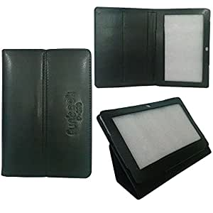 PU Leather Flip Case Cover cum Stand for Micromax Funbook P280 Tablet (Black)