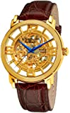 Stuhrling Original Stuhrling Original Men's 165B.3335K31 Classic Winchester Grand Automatic Skeleton Gold Tone Watch