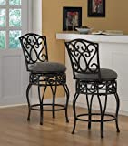 Chase 24-inch 360 Swivel Counter Stools (Set of 2)