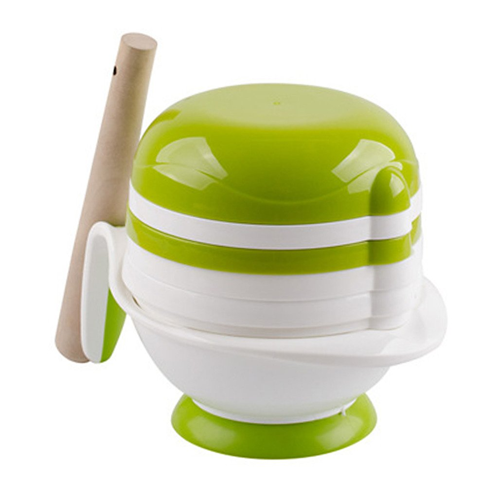 GWELL Baby Food Grinding Masher Bowl 6-in-1 Food Processor Set White