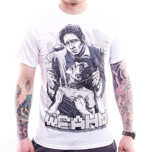 T-shirt., era from a prostitute mouth, Mulder bianco Small