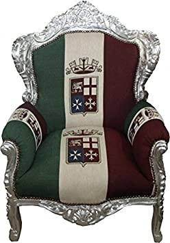 Casa Padrino Baroque Armchair 'King' Union Italy / Silber - furniture antique