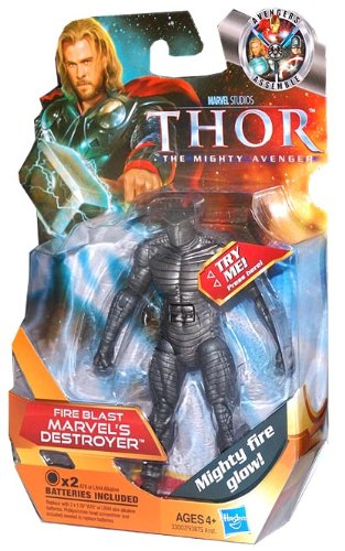 Thor: The Mighty Avenger Action Figure #11 Fireblast Marvel's Destroyer 3.75 Inch (Marvel Destroyer compare prices)