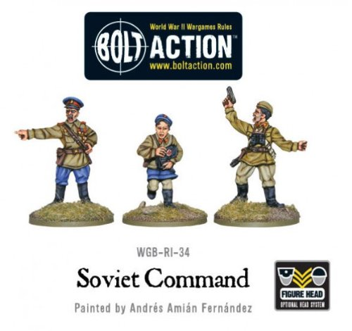 Pack Of 3 Soviet Command Miniatures - 1