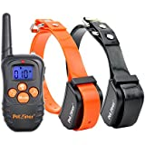 Petrainer 330 Yards Safe Remote Training E-collar PET998N Rechargeable and Waterproof 2 Dog Training Collar with Safe Beep and Strong Vibration, NO STATIC SHOCK