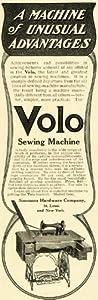 1906 Ad Simmons Hardware Volo Sewing Machine Table Needle Thread Fabric Stitch - Original Print Ad