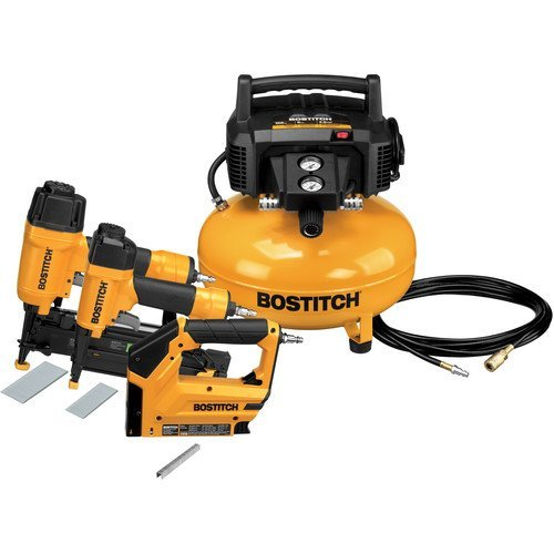 BOSTITCH BTFP3KIT 3-Tool and Compressor Combo Kit (Air Gun Nails compare prices)
