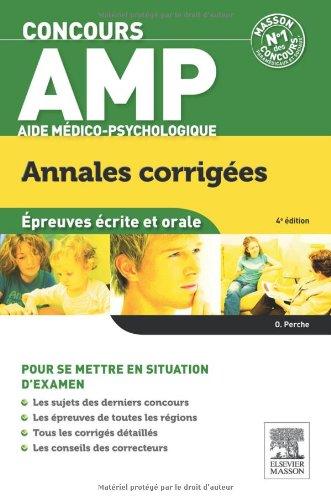 Concours Aide médico-psychologique Annales corrigées 4e