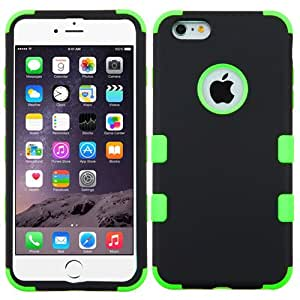 MyBat iPhone 6 Plus Rubberized TUFF Hybrid Phone Protector Cover - Retail Packaging - Black/Green