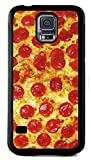 Samsung Galaxy S5 Rubber Case Cover Case Pizza Cover Pepperoni Fast Food Funny Phone Snacks Slice Cheese Topping INCLUDES SCREEN PROTECTOR