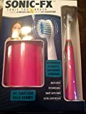 Sonic-FX Toothbrush with 4 Brush heads and UV Sanitizer - Pink