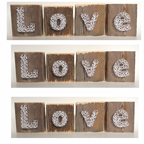 Love string art wooden blocks - A unique Mother's Day, Wedding, Anniversary, Birthday, Valentine's Day, Christmas and new baby gift.