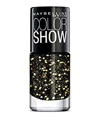 Maybelline New York Color Show Party Girl Nail Paint, Midnight Sparks, 6ml