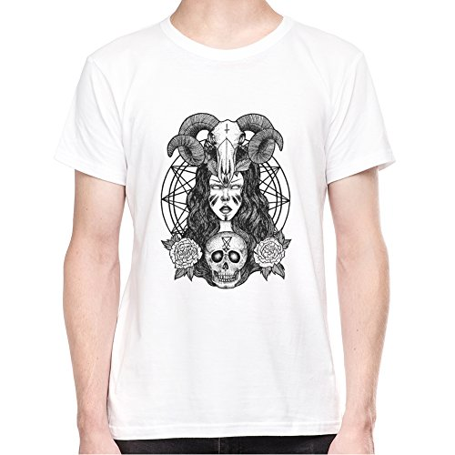 Goth Punk Graphic Satan Antichrist Art T-Shirt - Uomo - XX-Large