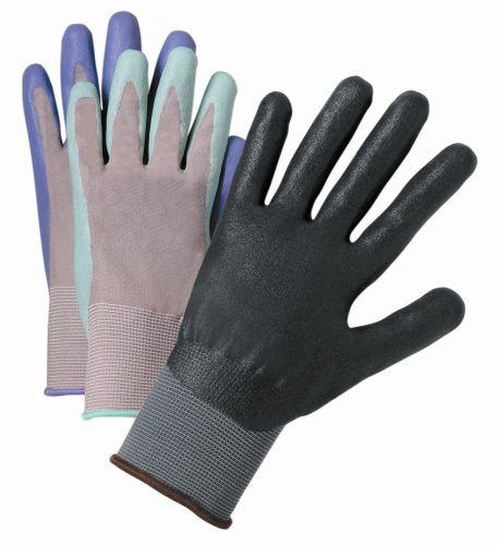 West Chester 37130/L Master Guard Nitrile Dipped Glove, Dark Grey