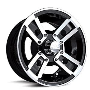 MotoSport Alloys S3 Redline Black Machined 10x5 - Inch Wheel