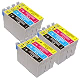 T 715 X 3 MULTIPACK - EPSON COMPATIBLE Ink Cartridges for Epson Stylus D120, D78, D92, DX400, DX4000, DX4050, DX4400, DX4450, DX5000, DX5050, DX6000, DX6050, DX7000, DX7400, DX7450, DX8400, DX8450, DX9400F, S20, S21, SX100, SX105, SX110, SX115, SX200, SX