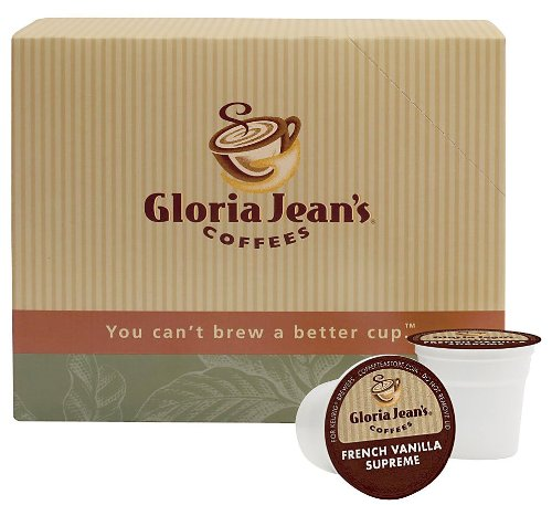 Gloria Jeans Coffees, French Vanilla Supreme, 24 ct K-Cups for Keurig Brewers, 2 pk