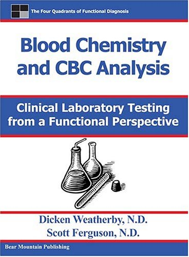 an analysis of blood chemistry tests A blood test is a laboratory analysis performed on a blood sample that is usually extracted from a vein in the arm using a hypodermic needle, or via fingerprick multiple tests for specific.