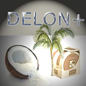 DELON Moisturizing Body Butter With All Natural Extracts, Fragrant COCONUT - 2 PACK 6.9 oz Each