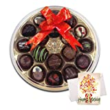 Scrumptious Chocolates Gift Box With Birthday Card - Chocholik Belgium Chocolates