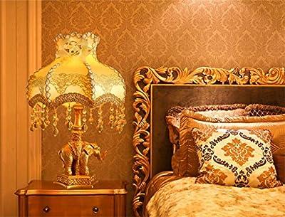European-style Garten Schlafzimmer Nachttischlampen Elefanten geschnitzt gold warmes Licht dimmen Luxusverheißungsvollen Hochzeit Geschenkideen