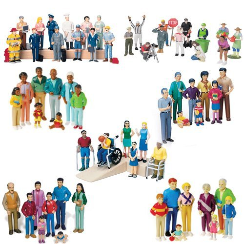 Deluxe 62 Piece Human Figure Set for Sand Trays and Dollhouses (Miniature Human Figures compare prices)