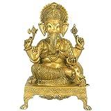 Redbag Lord Ganesh - Brass Statue BS0009 (40.64 Cm, 27.94 Cm, 22.86 Cm)