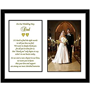 Wedding Gift List Amazon : Amazon.com - Father Thank You Wedding Gift - Thank You Poem From Both ...