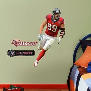 NFL Houston Texans J.J. Watt Junior Wall Graphics by Fathead