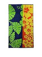 Natural History Gifts Toalla Playa Lux Mod 67 (Verde / Naranja)