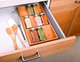 Seville Classics Bamboo  Spice Rack Drawer Tray