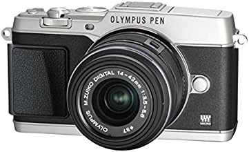 Olympus PEN E-P5 Micro Four Thirds Interchangeable Lens Camera - Silver (16.1MP, Live MOS, M.Zuiko 14-42mm II R Lens) 3.0 inch Tiltable Touchscreen LCD