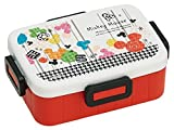 4-point Lock Lunch Box 650ml Mickey Mouse Joyful Disney by N/A