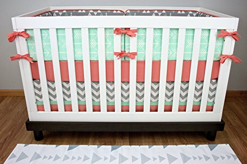 Modified Tot Crib Bedding, Minty - 1