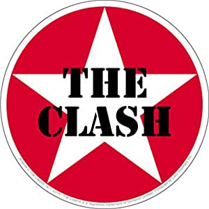"Amazon.com: The Clash Star Logo 4"" Round Sticker/Decal: Toys & Games"