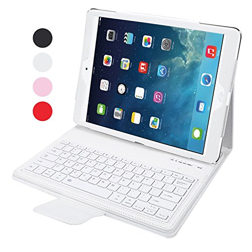 NEWSTYLE Apple iPad Pro 12.9 Keyboard Case - Premium Muti-angle Stand Folio Cover Case with Slim Magnetically Detachable Bluetooth Keyboard For Appl
