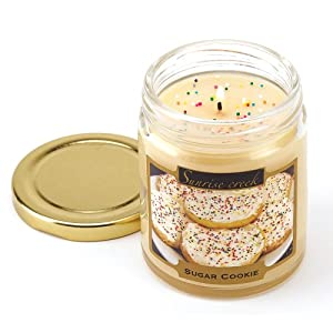 Sugar Cookie Scent Scented Candle Jar Home Decor Gift