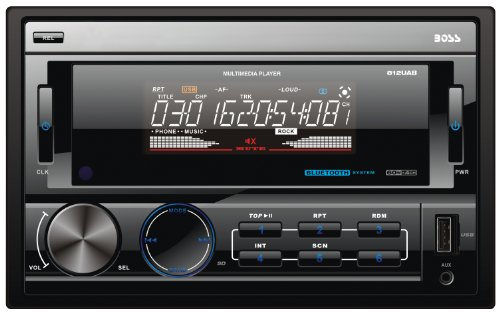 BOSS Audio 812UAB In-Dash Double-Din Detachable USB/SD/MP3 Player Receiver Bluetooth Streaming Bluetooth Hands-free with Remote