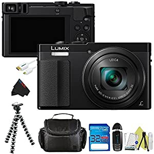 Panasonic Lumix DMC-ZS50 30X Travel Zoom with Eye Viewfinder + 16GB Pixi-Basic Accessory Kit