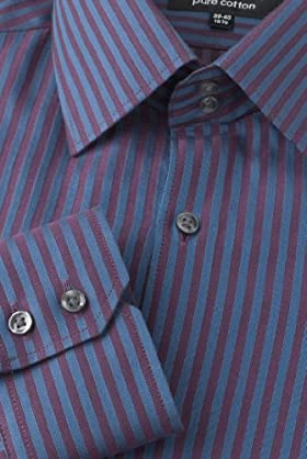 Autograph Pure Cotton Bengal Stripe Satin Shirt [T11-0944A-S-LCTB]