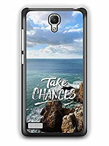 YuBingo Take Chances Designer Mobile Case Back Cover for Xiaomi Redmi Note